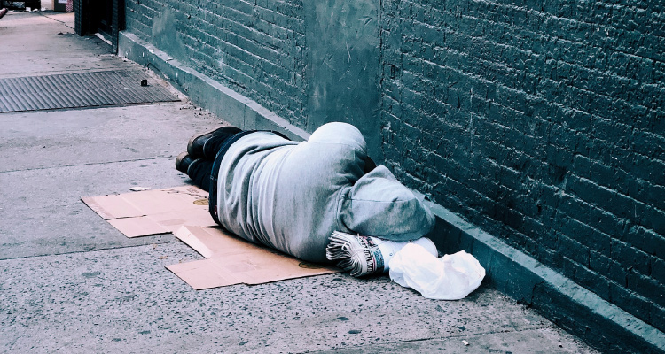 Man sleeping rough